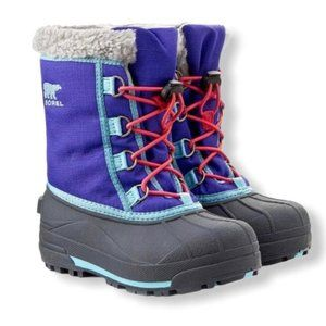 Sorel purple blue winter snow boots size 6